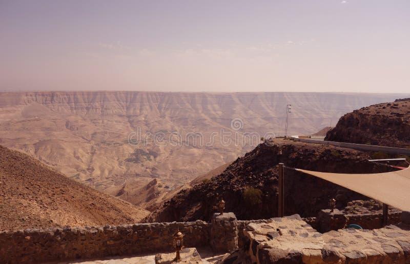 Old terrace in Jordan stock images
