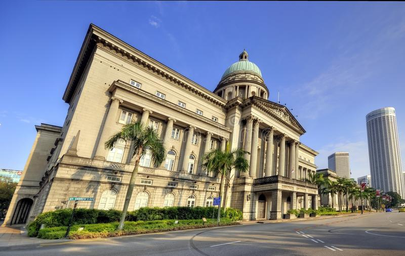 Old Supreme Court, Singapore. The old Supreme Court building in Singapore overlooking the CBD royalty free stock image