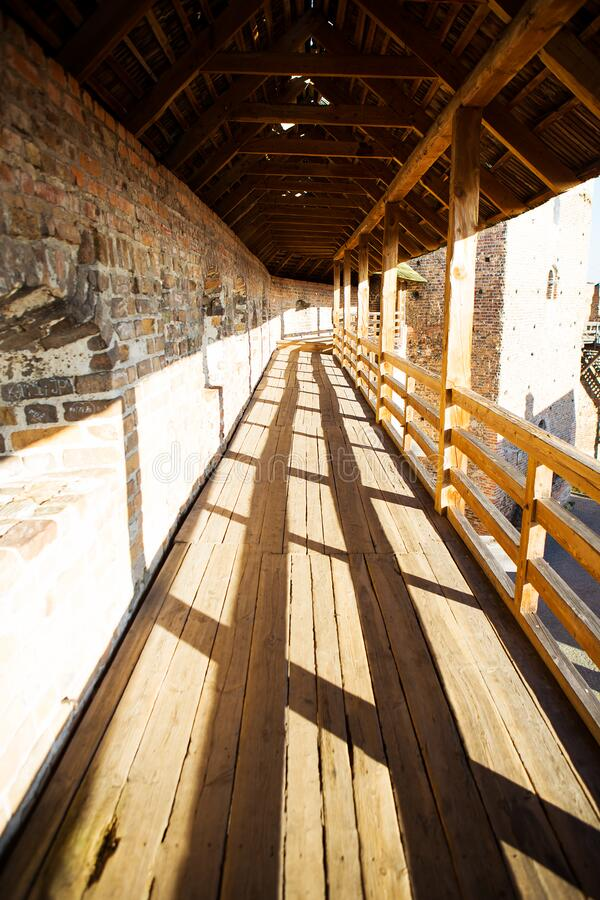 Old surroundings of Lubart Castle in Lutsk, Ukraine.  royalty free stock photos
