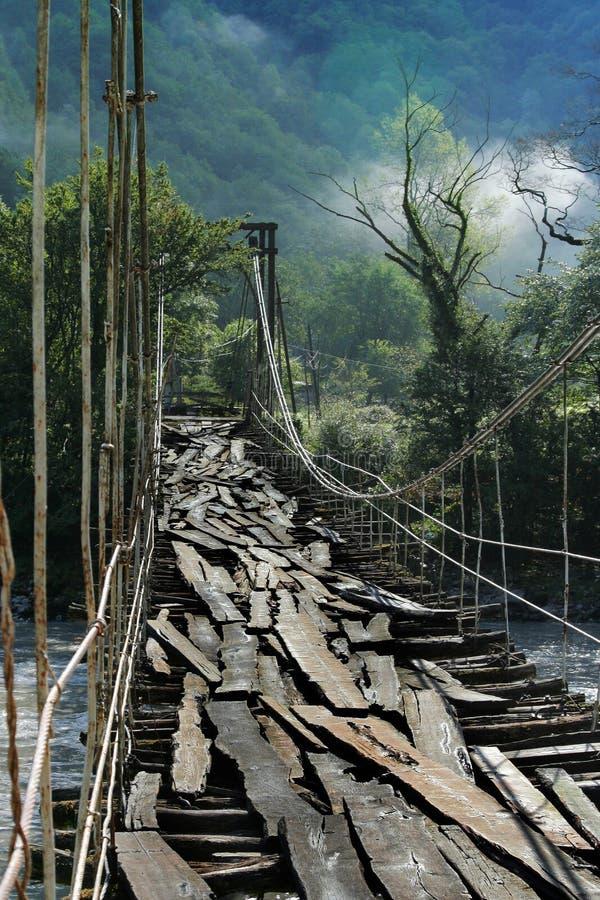 Free Old Suspension Bridge Royalty Free Stock Images - 3621559