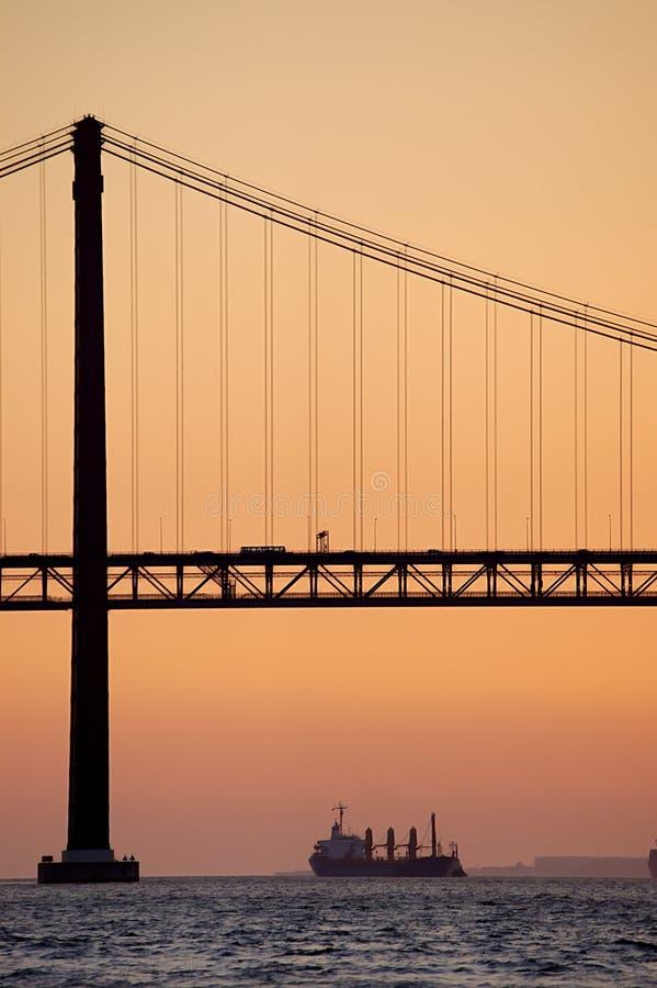 Download Old Suspension Bridge, Lisbon Stock Photo - Image: 2290378