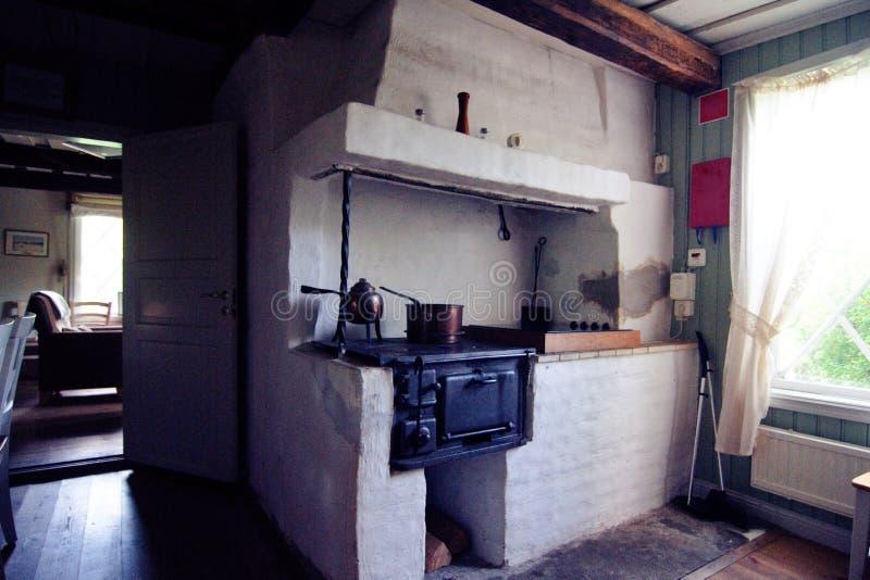 Download Old swedish kitchen stock photo. Image of windows, kettles - 26813780