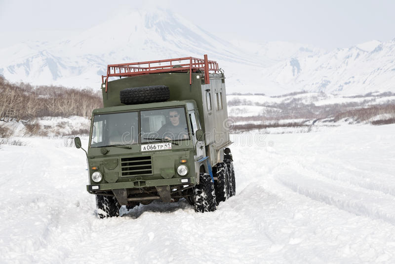 Old Swedish military off-road vehicle Volvo Laplander C304 stock image