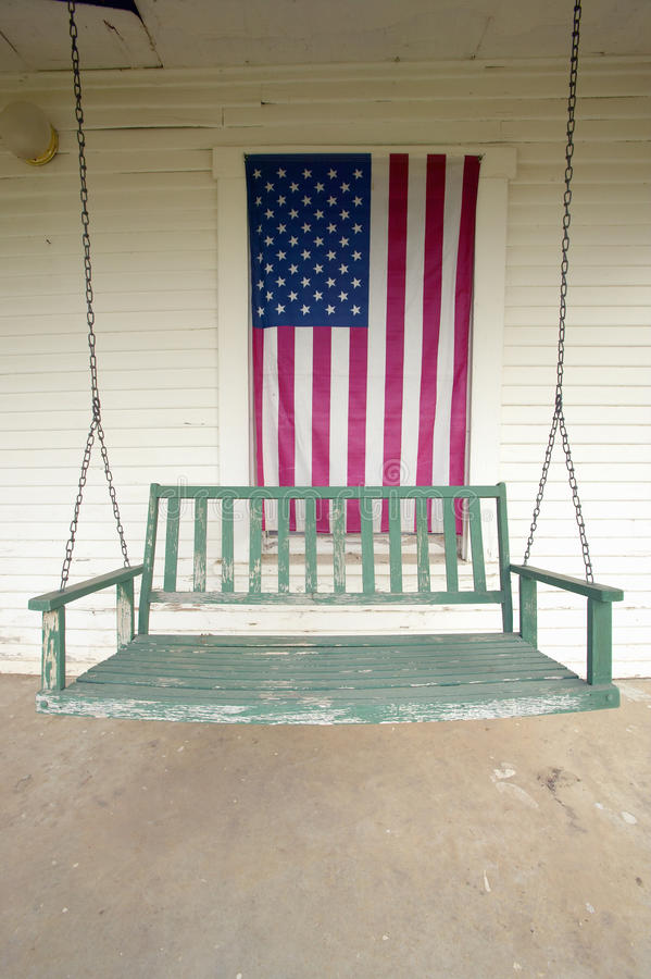 Download Old swing on porch stock photo. Image of vertical, front - 23180294