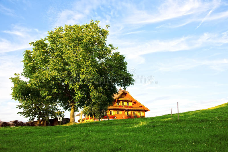 Download Old Swiss Farm In The Alps Royalty Free Stock Photography - Image: 21073397