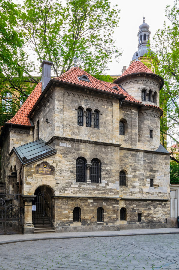 Old Synagogue, Prague stock images