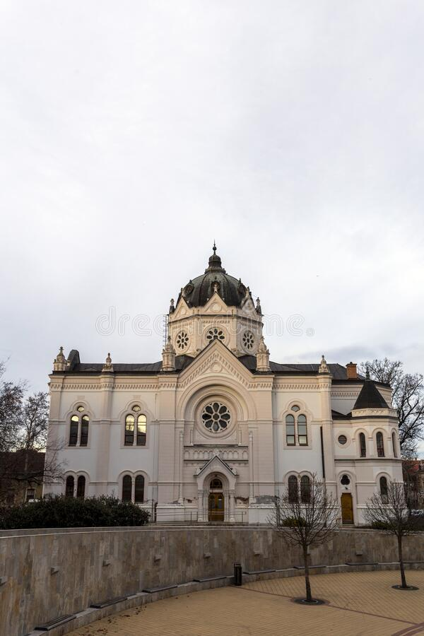 The old Synagogue in Szolnok, Hungary.  stock image