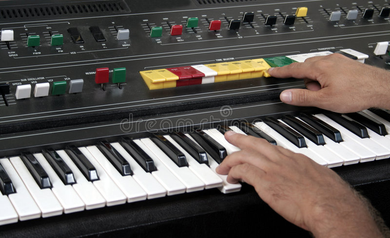 Old Synth Royalty Free Stock Photo