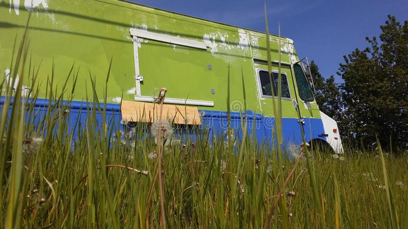 Old taco truck stock photography