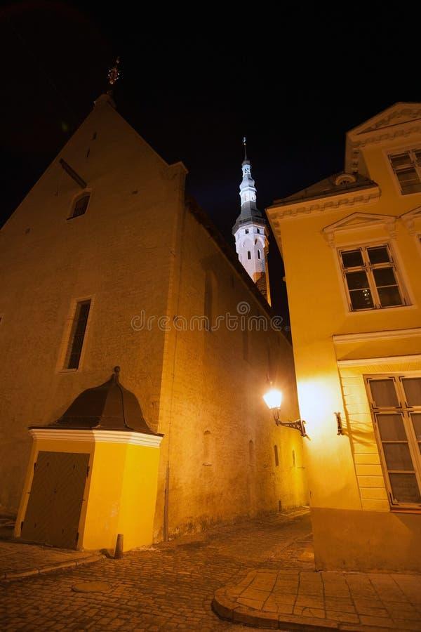 Free Old Tallinn, Estonia. Dark Street At Night Stock Photo - 41759850