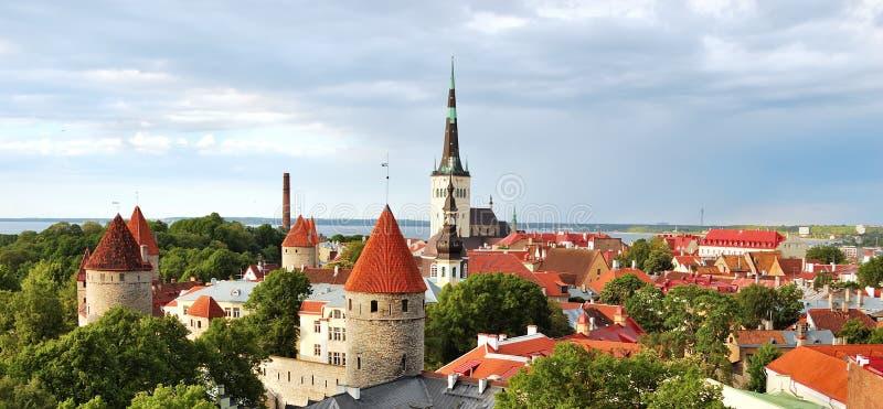 Old Tallinn before a rain royalty free stock image