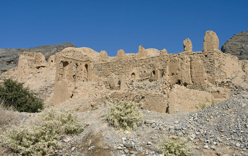 Old Tanuf town, Oman royalty free stock images
