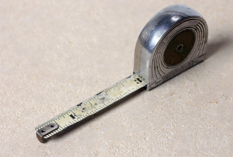Old tape measure stock photos