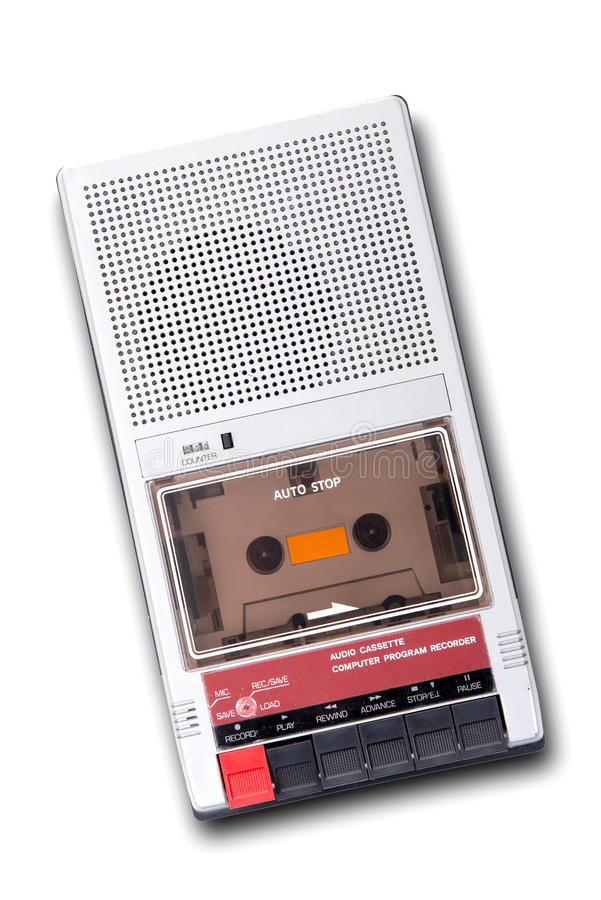 Old tape recorder stock images
