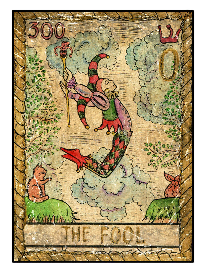 Free Old Tarot Cards. Full Deck. The Fool Royalty Free Stock Photography - 67139327