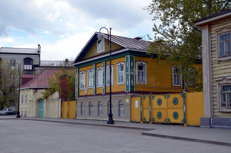 Old Tatar settlement in Kazan royalty free stock images
