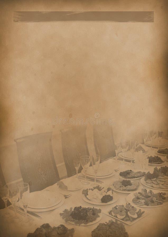 Old Tea Menu Background Vintage Paper For Any Design Stock