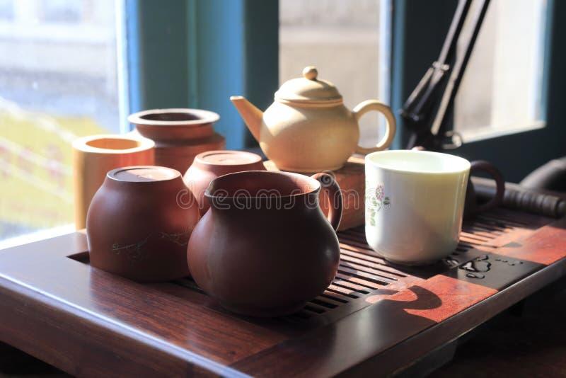 Old tea set stock image