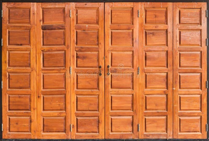 Old Teak Wood Door, Background/ Texture stock image