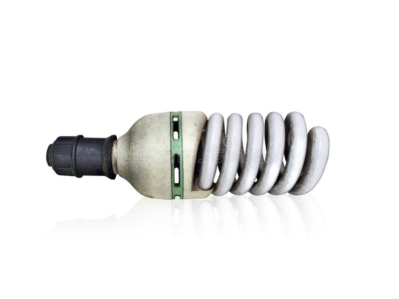 Old technology and wasting electricity, burned out light bulb - no idea concept. For design royalty free stock photography
