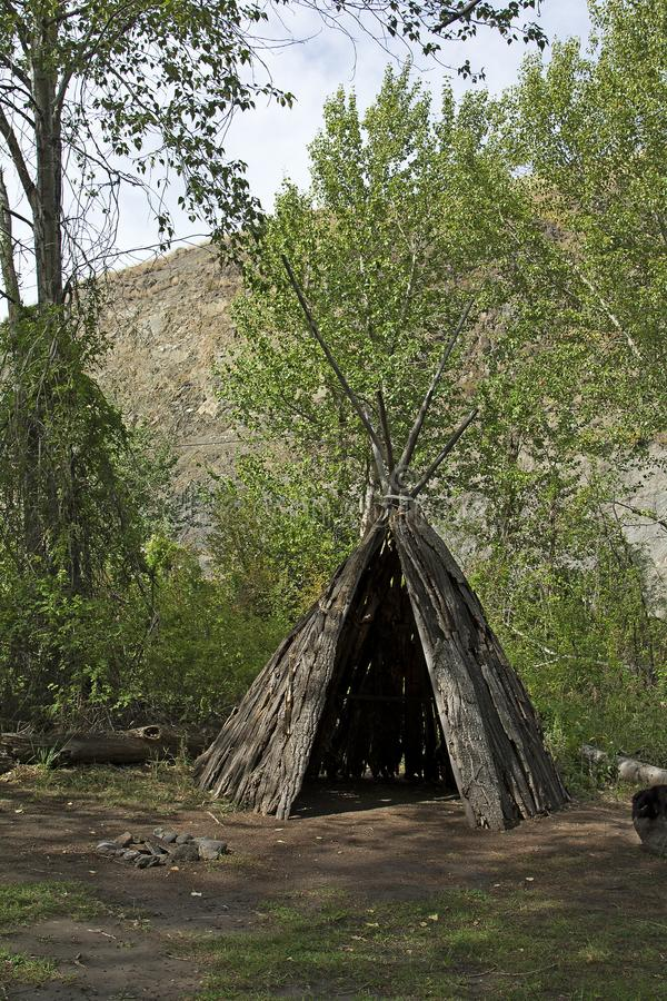 Old teepee royalty free stock image