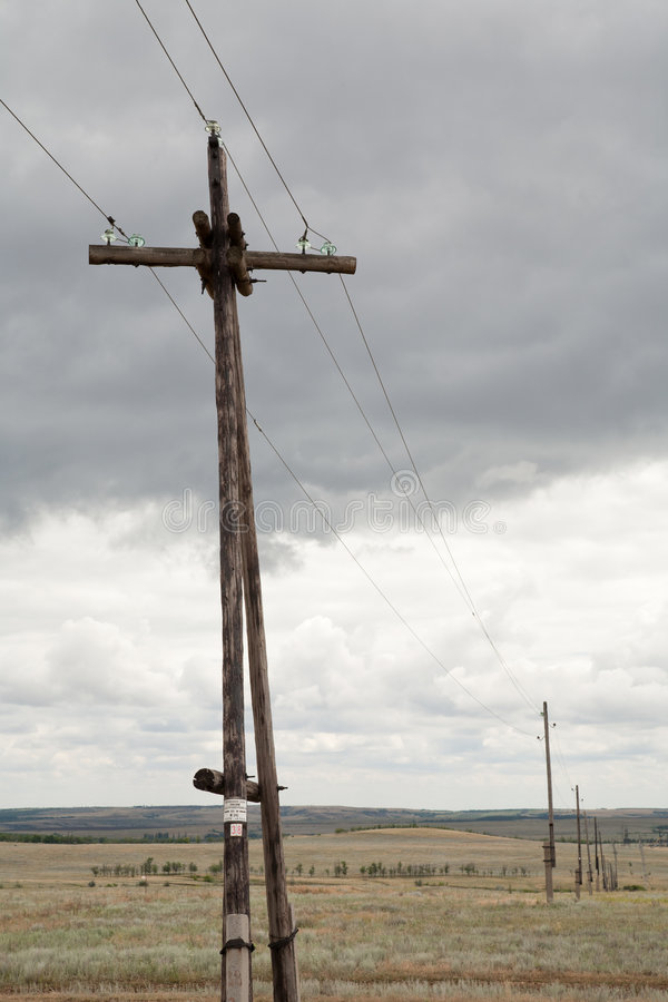 Free Old Telegraph Poles Royalty Free Stock Photography - 8341707