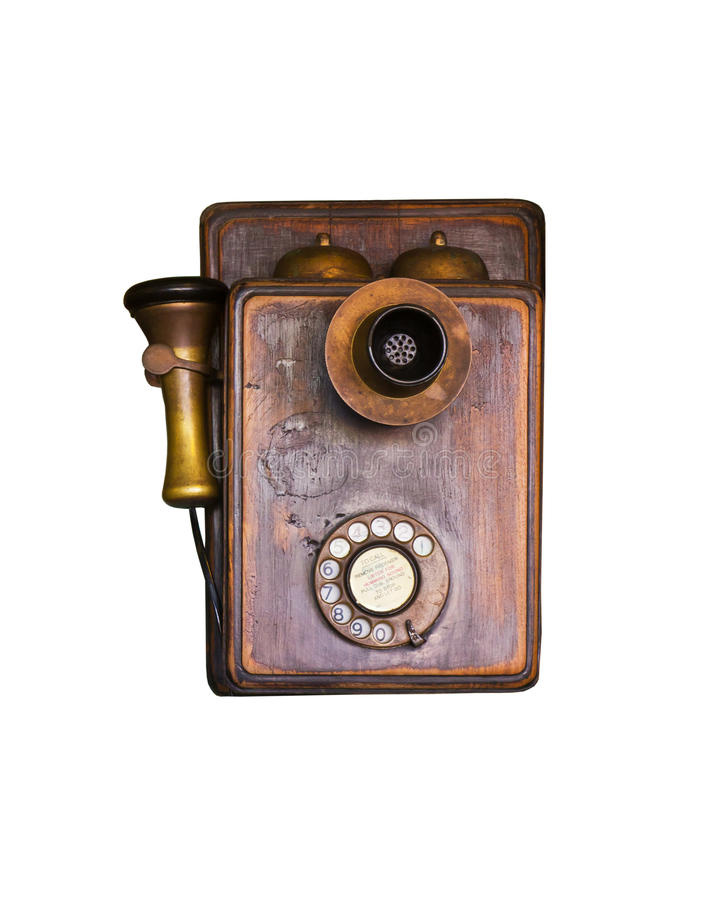 An old telephone stock photography