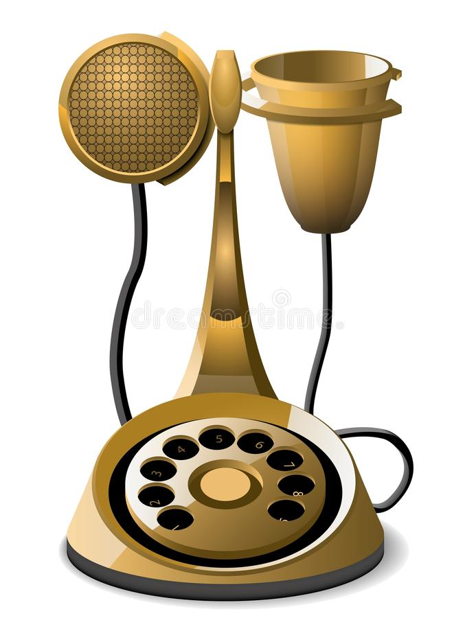 Download The old telephone stock vector. Illustration of isolated - 26182638