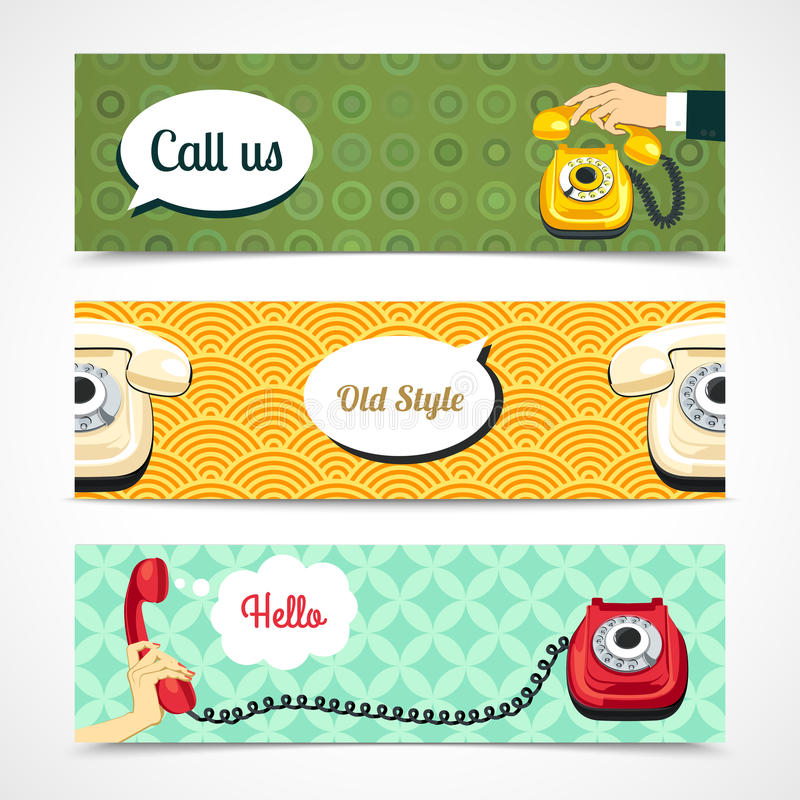 Free Old Telephone Banners Horizontal Stock Photo - 41638580