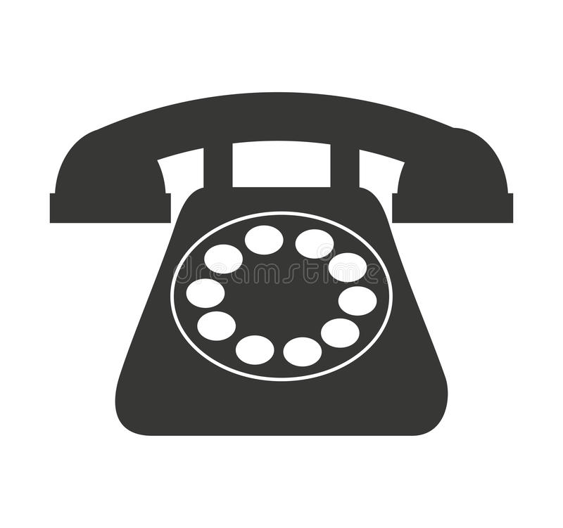 old telephone isolated icon design vector illustration