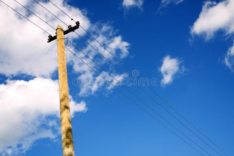 Old telephone pole royalty free stock photos