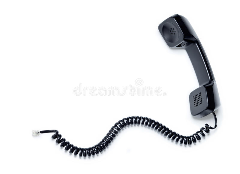 Phone Telephone Receiver Cord stock photography