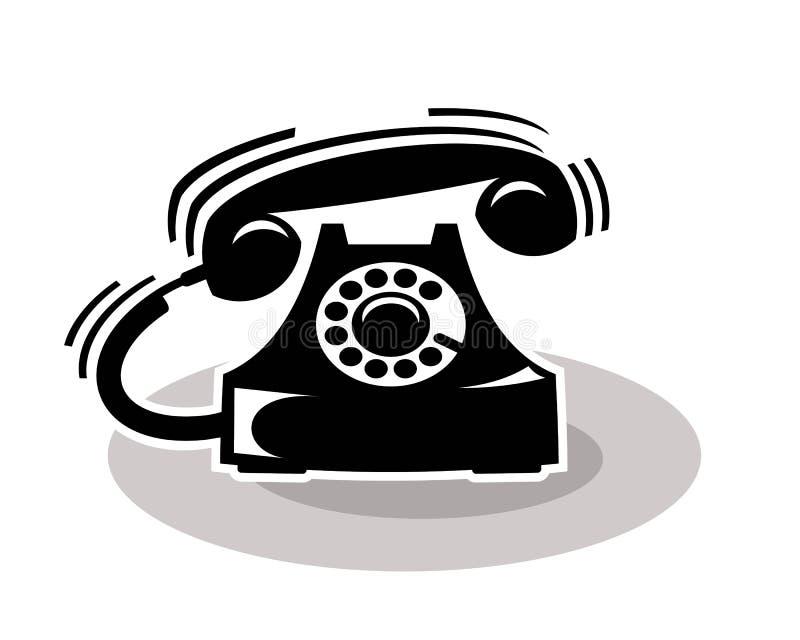Old telephone ringing stock illustration