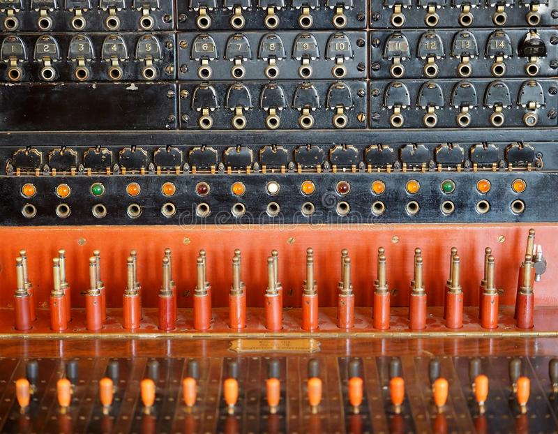 Old Telephone Switchboard royalty free stock photography