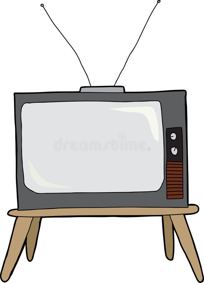 Old Television Stock Vector