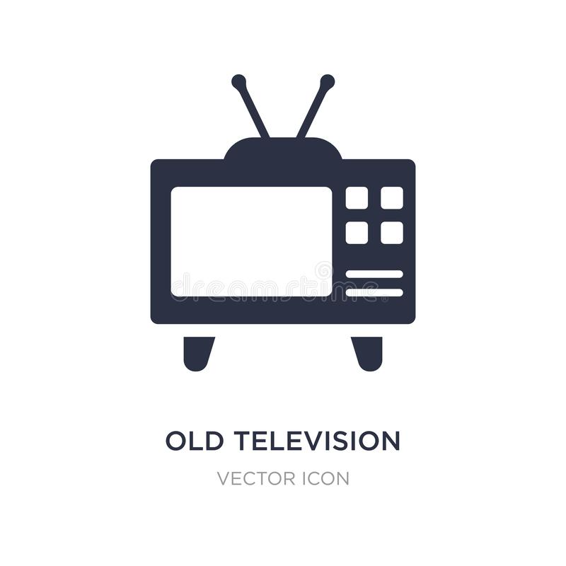 old television icon on white background. Simple element illustration from Technology concept stock illustration