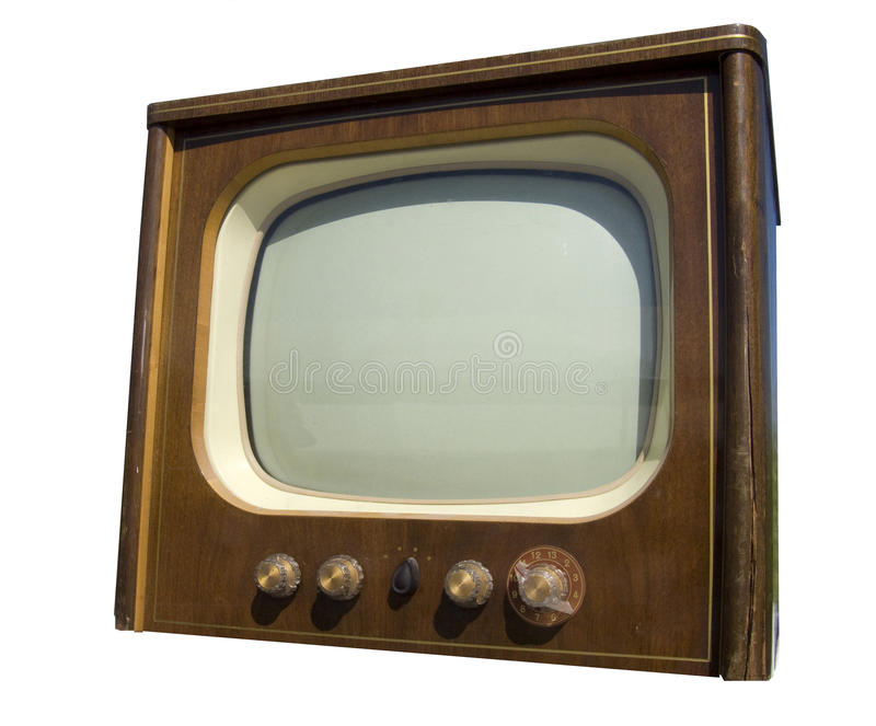 Old television set stock images
