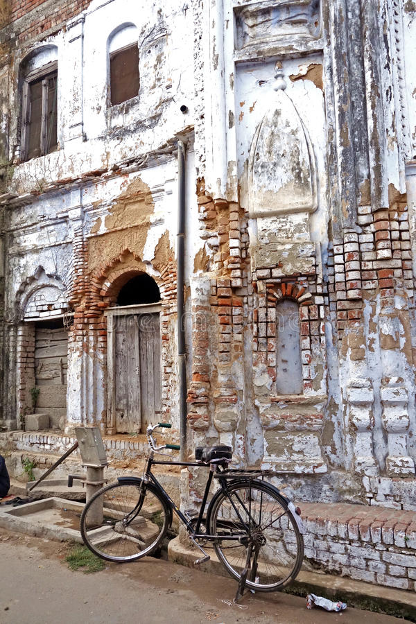 Old Temple and Bike royalty free stock images