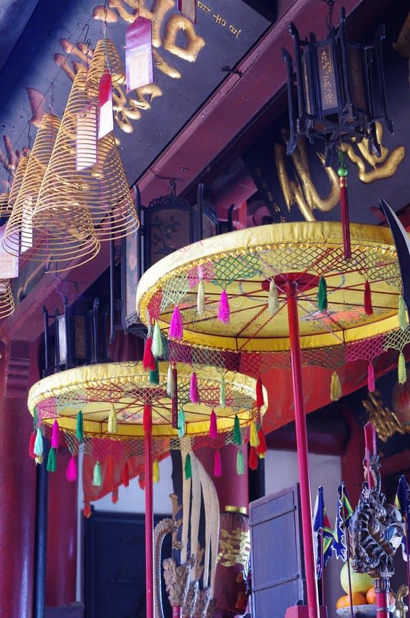 Decorative traditional Chinese umbrellas stock image