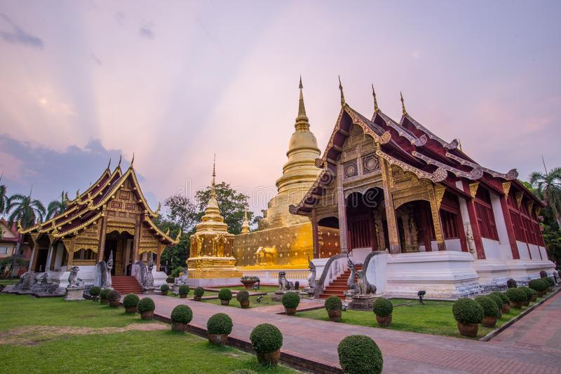 Old temple in northern of Thailand royalty free stock photography