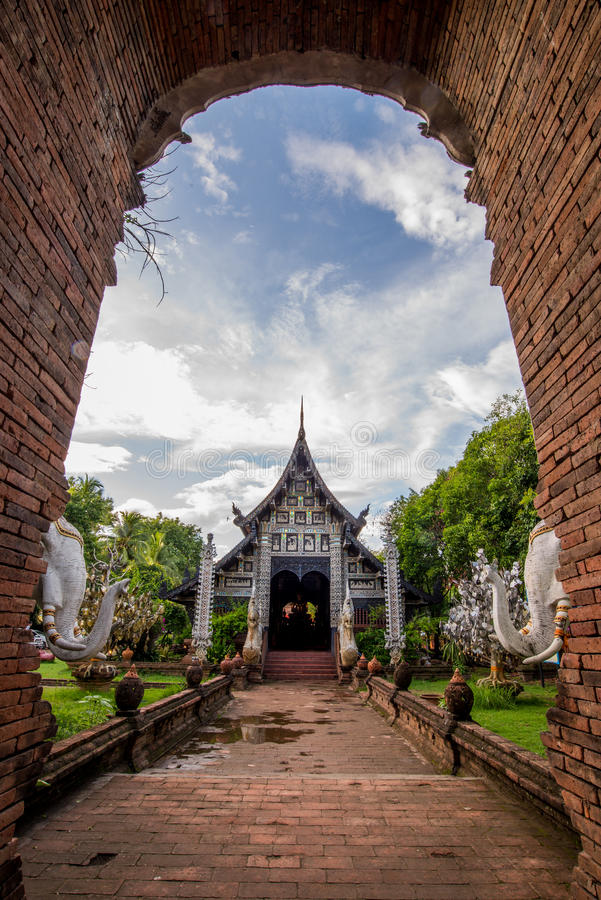 Old temple in northern of Thailand royalty free stock images