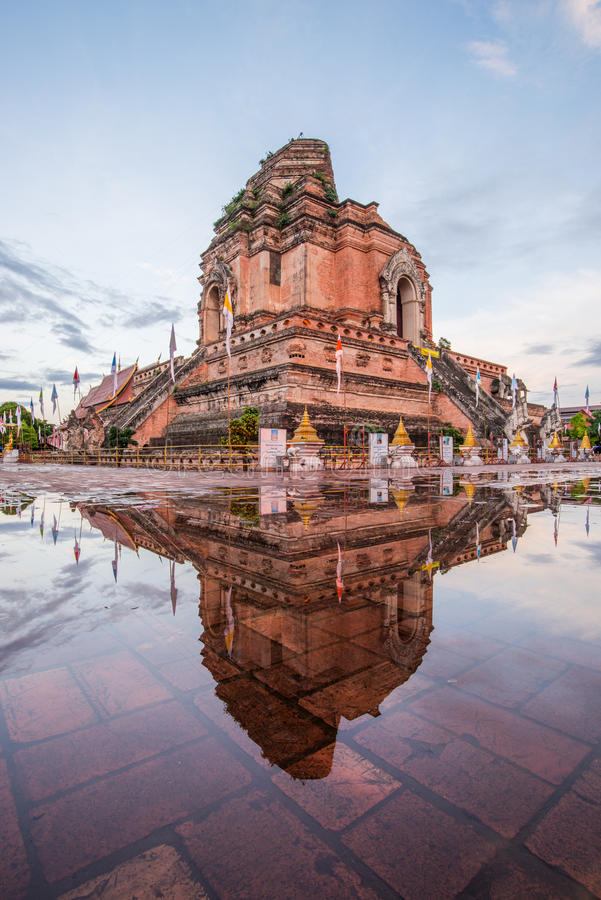Old temple in northern of Thailand stock photography
