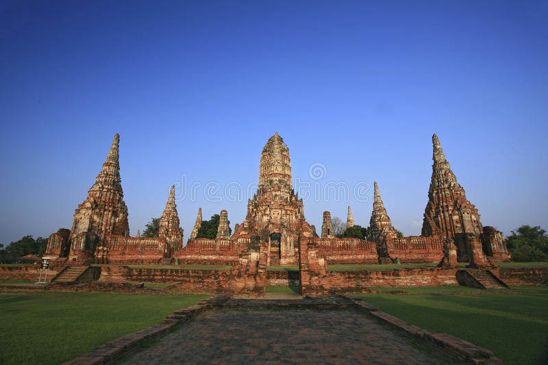Download Old Temple At Wat Chaiwatthanaram, Ayutthaya Province, Thailand. Stock Image - Image: 28844487