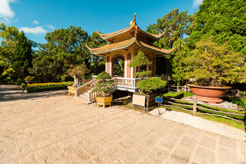 Old Temples in Da Lat, Vietnam. Linh Son pagoda. Asia royalty free stock photos