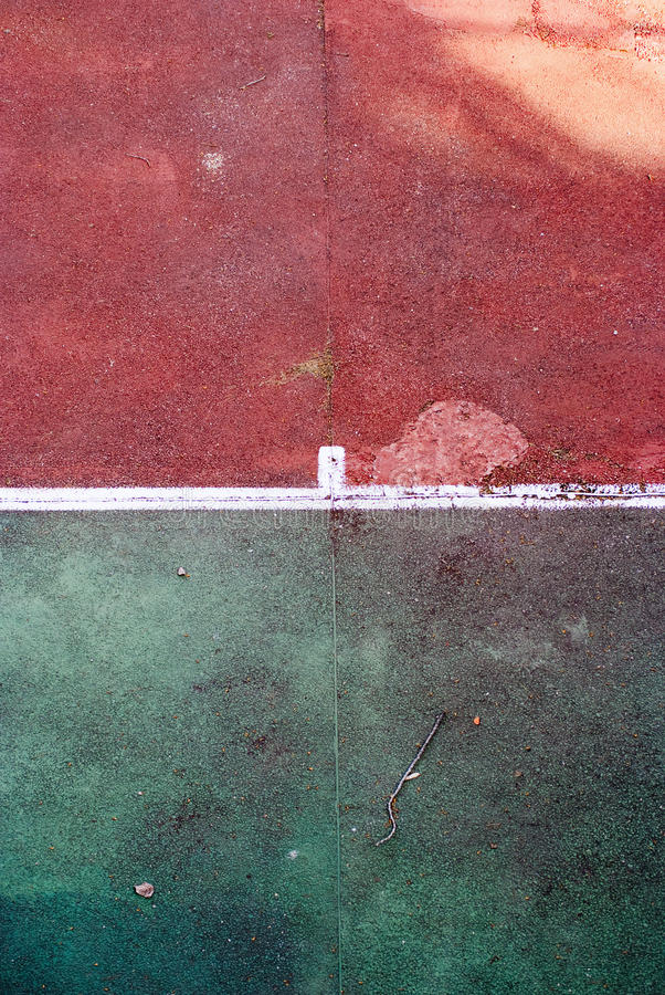 Old Tennis Court Stock Image