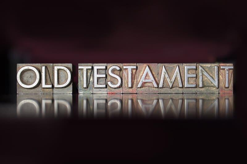 Old Testament Letterpress stock photo