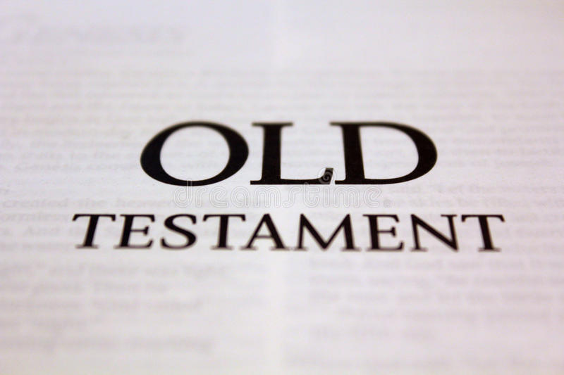 Old Testament. Text on white stock image