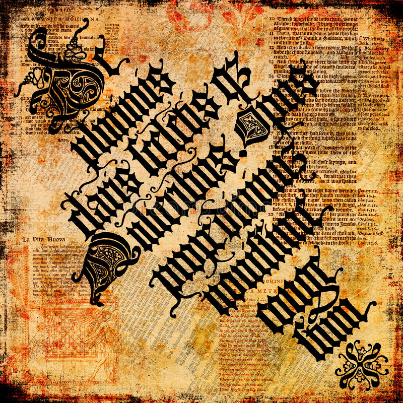 Old Text Parchment 4 - Grungy background stock photography