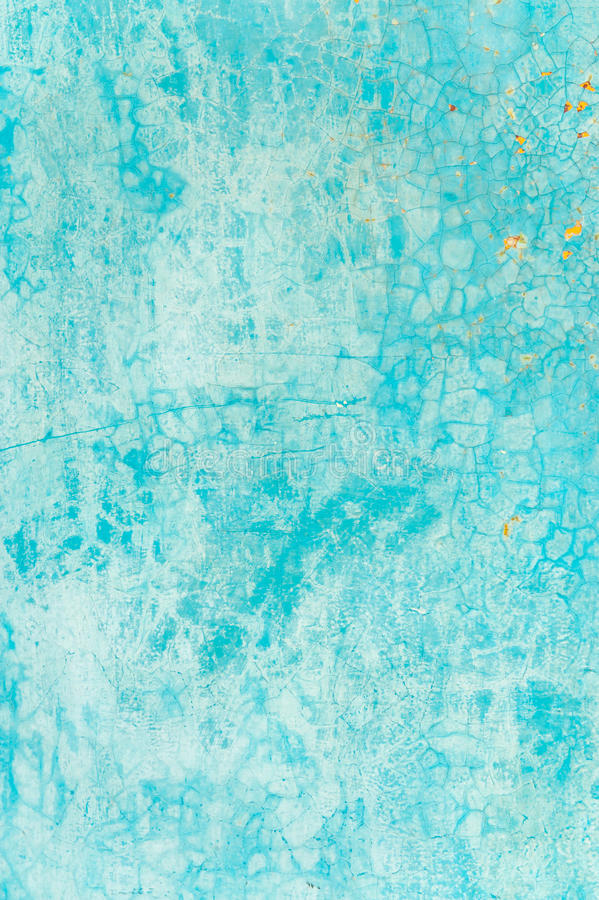 Old Textured Blue Wall With Stains Royalty Free Stock Photography