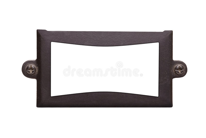 An old textured metal frame royalty free stock image